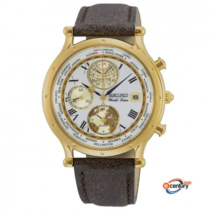 Seiko SPL060P1 Gents Quartz Age of Discovery GMT World Time Alarm Chronograph 30th Anniversary Limited Edition Watch