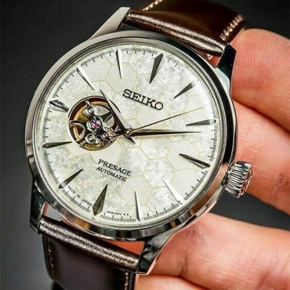 Seiko SSA409J1 Men's Presage Automatic Cocktail STAR BAR Honeycomb Open Heart LIMITED EDITION Watch (Made in Japan)