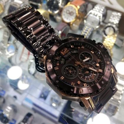 Balmer 6030G BRG-10 Men's Quartz Chronograph Bronze-Tone Stainless Steel Bracelet Watch