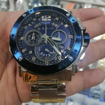 Balmer 6030G SS Men's Quartz Chronograph Stainless Steel Bracelet Watch