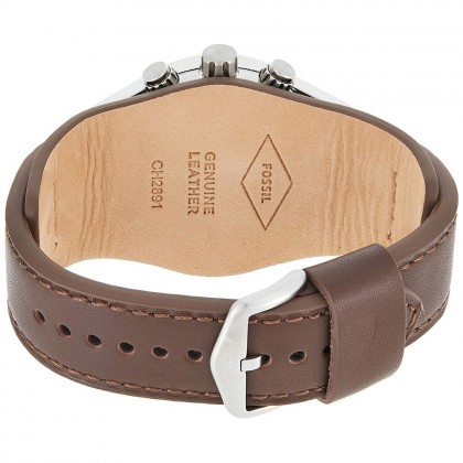 Fossil CH2891 Men's Quartz Analog Coachman Chronograph Brown leather Strap Watch