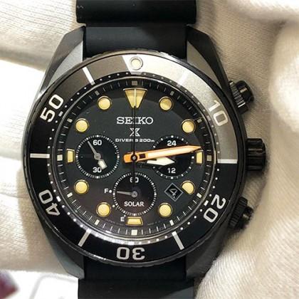 Seiko SSC761J1 Gents Prospex Sumo Black Series Solar Chronograph LIMITED EDITION Watch