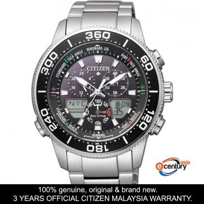 Citizen JR4060-88E Men's Eco-Drive Promaster Marine Yatch Timer Analog-Digital Stainless Steel Bracelet Watch