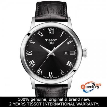 Tissot T129.410.16.053.00 Men's Quartz T-Classic Classic Dream Black Leather Strap Watch