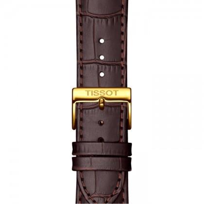 Tissot T129.410.26.263.00 Men's Quartz T-Classic Classic Dream Brown Leather Strap Watch