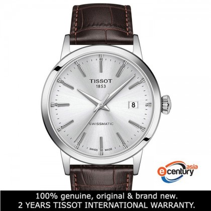 Tissot T129.407.16.031.00 Men's Automatic T-Classic Classic Dream Swissmatic Brown Leather Strap Watch