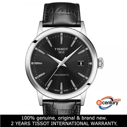 Tissot T129.407.16.051.00 Men's Automatic T-Classic Classic Dream Swissmatic Black Leather Strap Watch