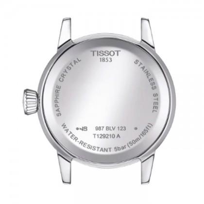 Tissot T129.210.16.053.00 Women's Quartz T-Classic Classic Dream Black Leather Strap Watch