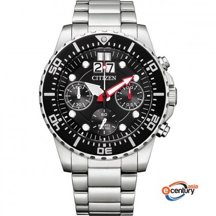 Citizen AI7000-83E Men's Quartz Chronograph Big Date 100M Stainless Steel Bracelet Watch