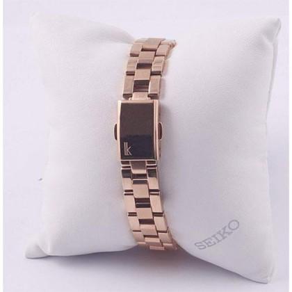 Seiko SSA836J1 Women's Lukia Automatic Rose Gold Tone Stainless Steel Bracelet Watch
