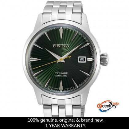 Seiko SRPE15J1 Men's Automatic Presage Cocktail Mockingbird Green Dial Stainless Steel Bracelet Watch