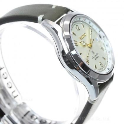 Seiko SPB123J1 Men's Automatic Prospex Alpinist Green Leather Strap Watch (Made In Japan)