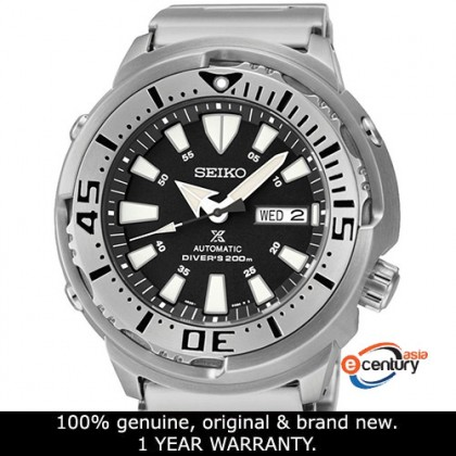 Seiko SRP637K1 / SRPE85K1 Men's Automatic Prospex Monster Baby Tuna Diver's 200M Stainless Steel Bracelet Watch