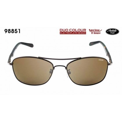 (NEW) Ideal 98851 Men's Duo Colour Spring Hinge Hard Coating TAC Polarized Lens Sunglasses