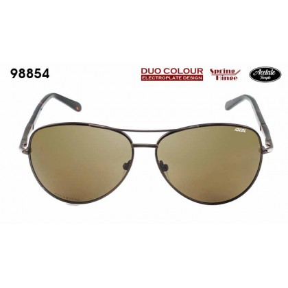 (NEW) Ideal 98854 Men's Duo Colour Spring Hinge Hard Coating TAC Polarized Lens Sunglasses