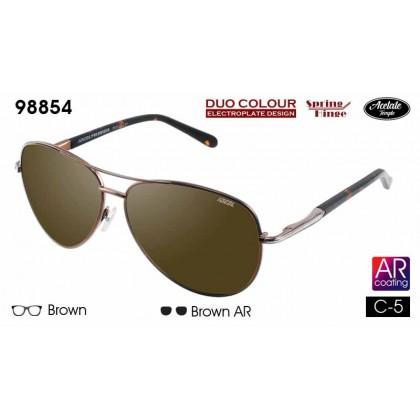 (NEW) Ideal 98854 Men's Duo Colour Spring Hinge Hard Coating TAC Polarized Lens Sunglasses